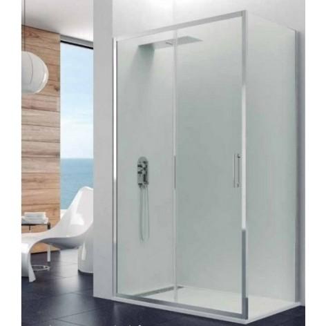 Mampara de ducha Prestige Titan frontal con lateral fijo 8 mm