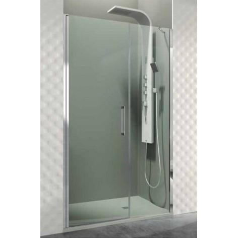 Mampara de ducha Open fijo y 01 puerta abatible con cierre a fijo