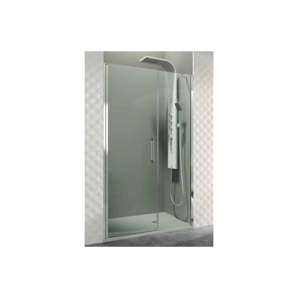 Mampara de ducha Open fijo y 01 puerta abatible con cierre a fijo  Transparente