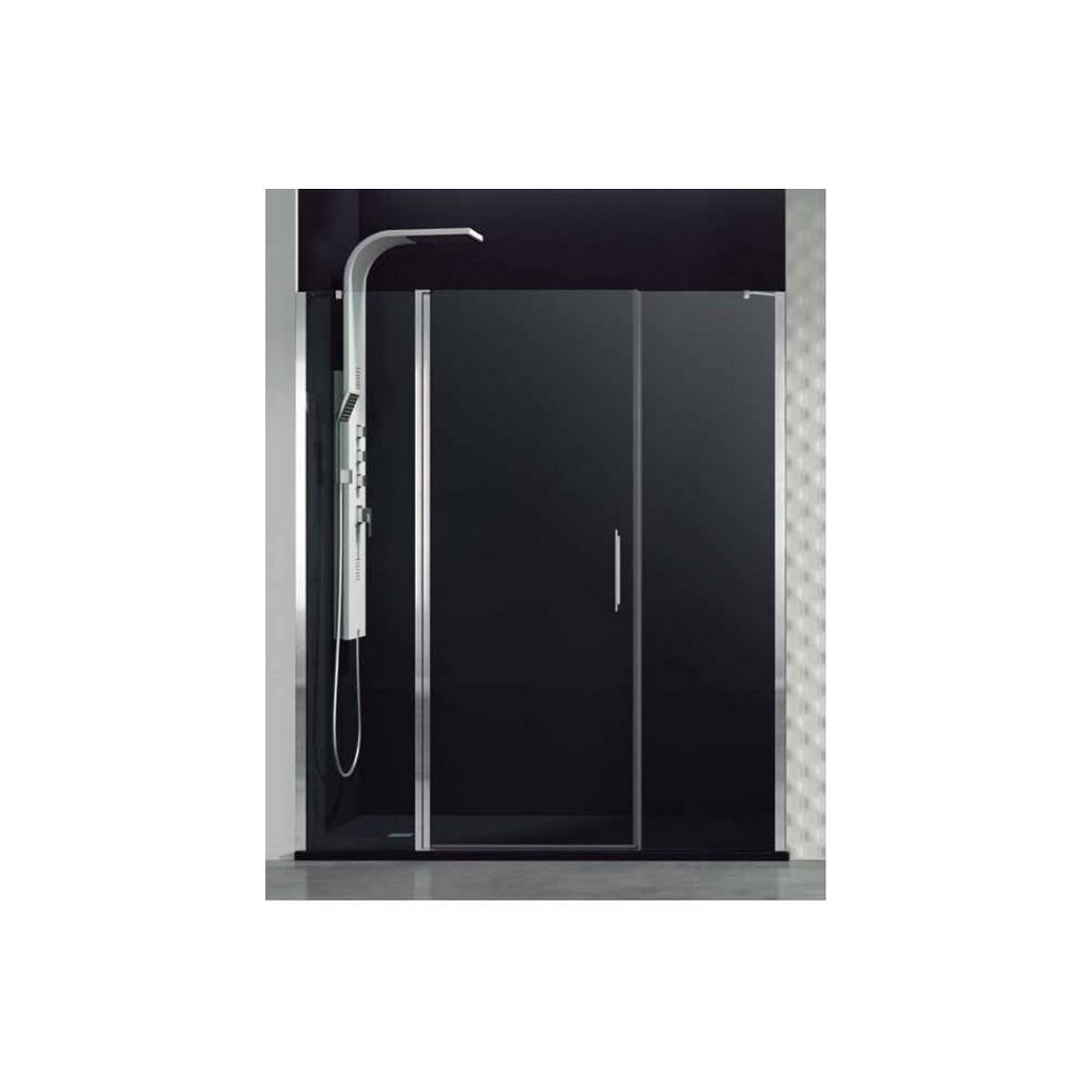 Mampara de ducha Open fijo puerta abatible y fijo  Transparente