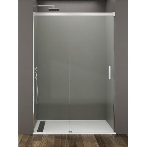 Mampara de ducha Basic  1 fijo y 1 puerta corredera