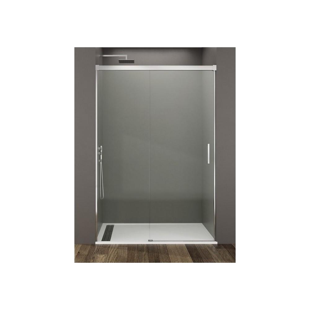 Mampara de ducha Basic 1 fijo y 1 puerta corredera Transparente