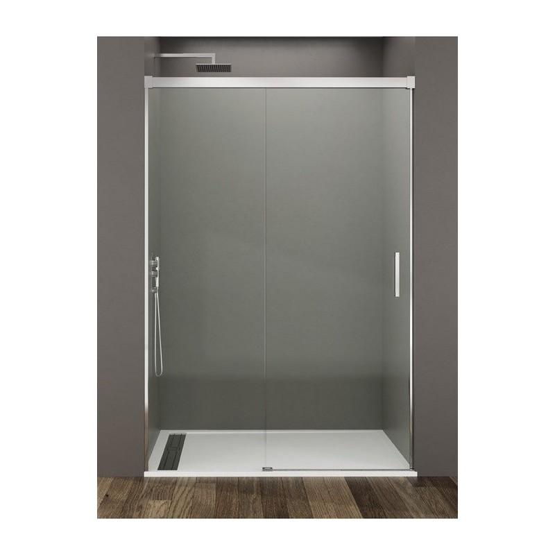 Mampara de ducha basic 01 fijo y 01 puerta corredera for Oferta puerta corredera