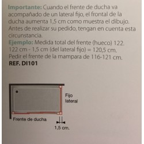 Mampara de ducha kassandra Diana DI101 Lateral fijo