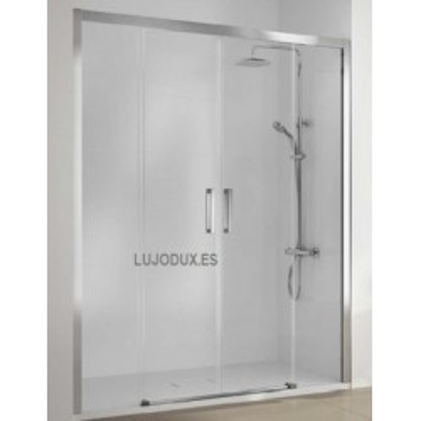 Mampara de ducha Serie 400 -CU 100 con dos fijos y dos puertas correderas
