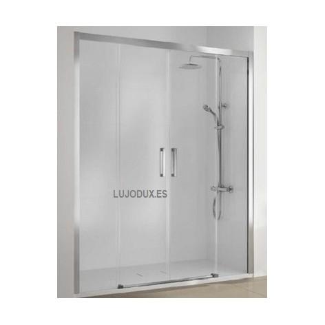 Mampara de ducha Serie 400  02 fijos y 02 puertas correderas