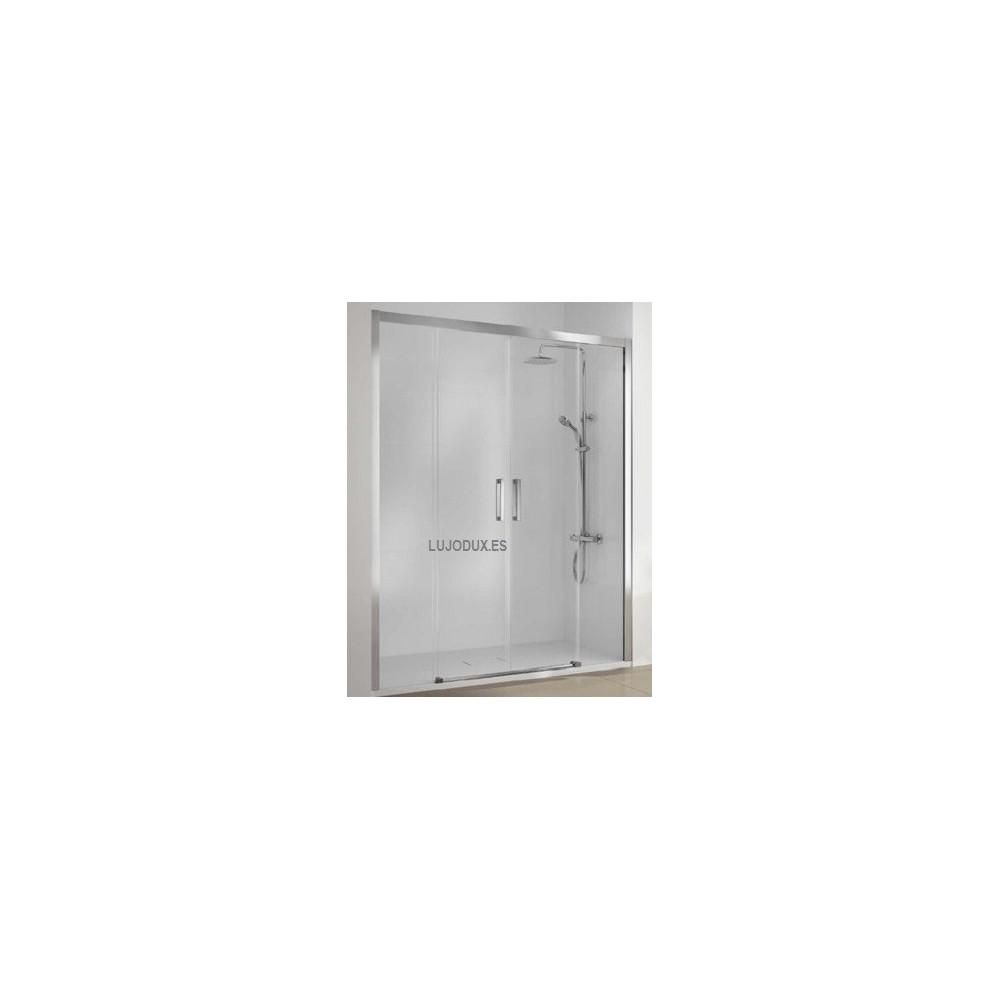 Mampara de ducha puertas correderas Serie 400 - CU 100 con dos fijos y dos puertas correderas Transparente