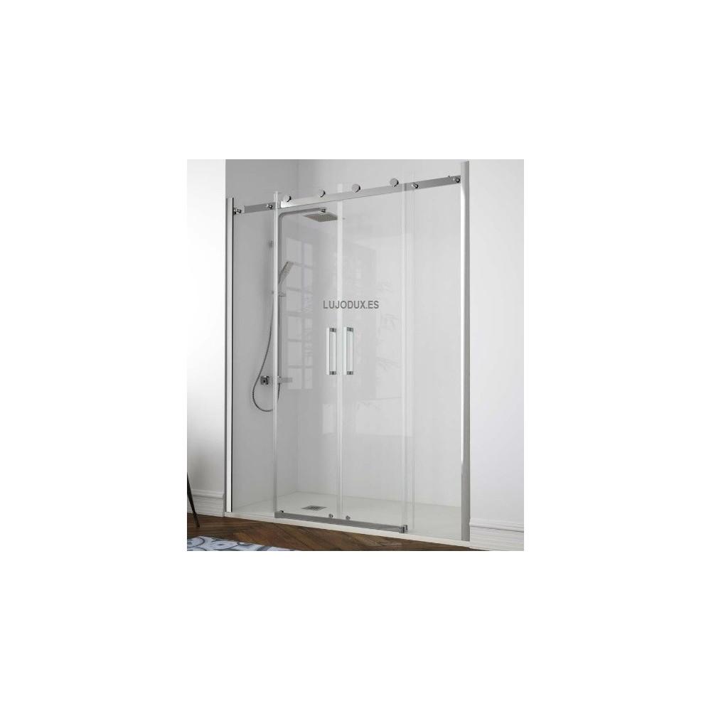 Mampara de ducha kassandra Liberty Ll100 02 fijos y 02 puertas correderas Transparente