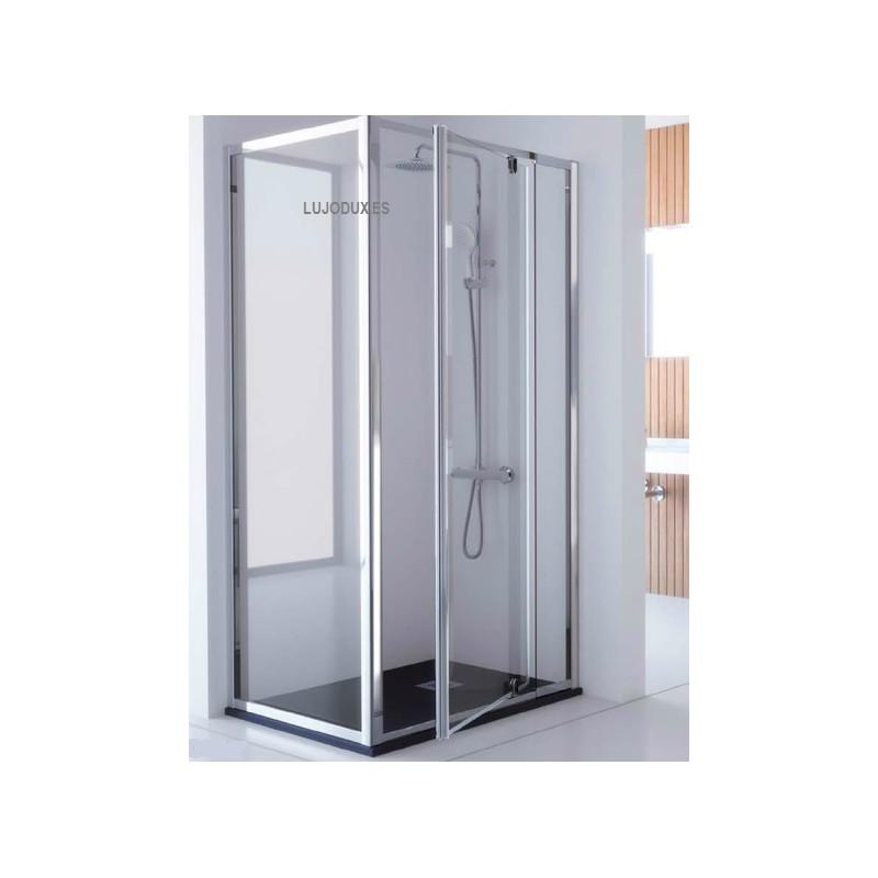 Mamparas de ducha puertas abatibles great mampara de - Mamparas abatibles para ducha ...