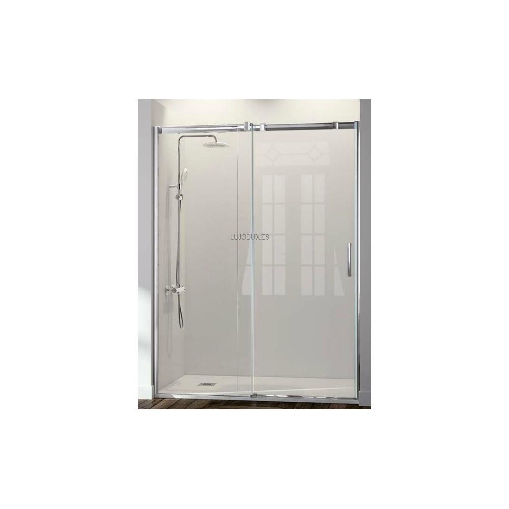 Mampara de ducha Kassandra Triana TN102 1 fijo y 1 puerta corredera Transparente