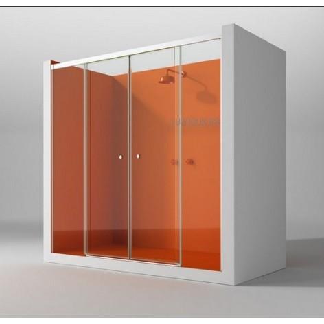 Mampara de ducha KD 2 fijos y 2 puertas correderas