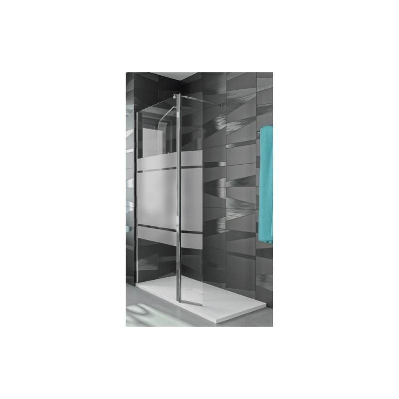 Mampara de ducha kassandra con fijo y puerta abatible tr 524 for Mampara ducha fijo abatible