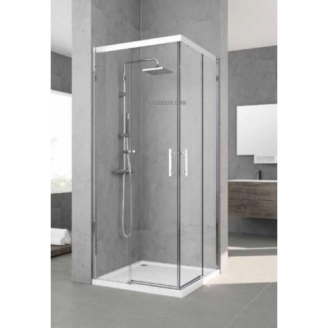 Mampara de ducha kali AH Angular 2 puertas correderas y 2 fijos