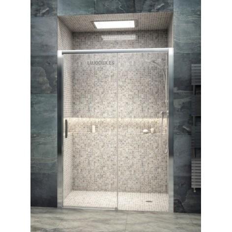 Mampara de ducha Iris 1 una puerta corredera y un fijo.