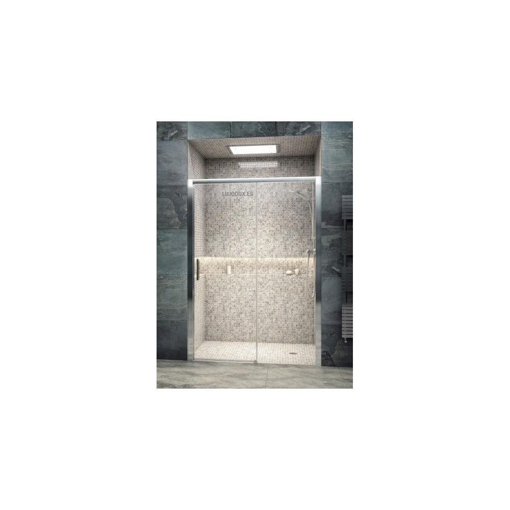 Mampara de ducha VRI 1 puerta corredera y 1 fijo Transparente