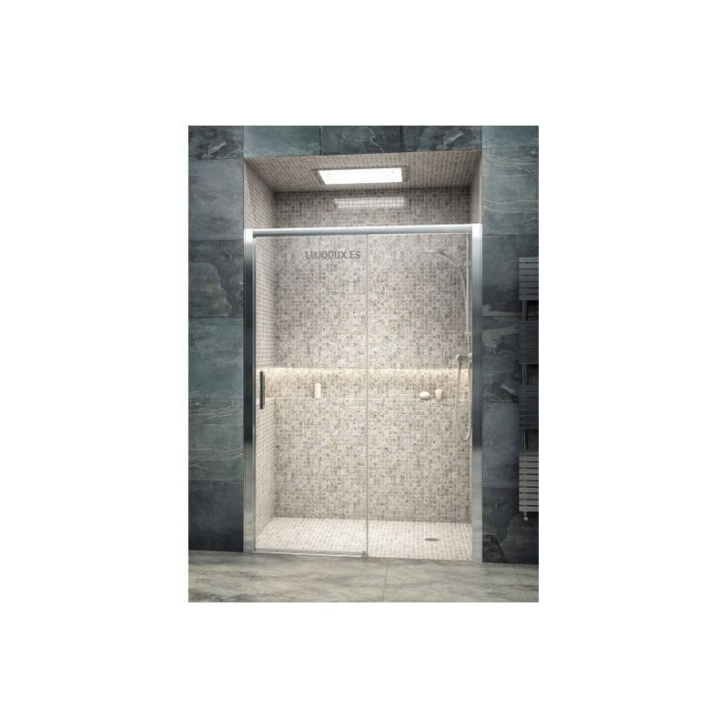 Mampara de ducha iris 1 una puerta corredera y un fijo - Mamparas de ducha enrollables ...