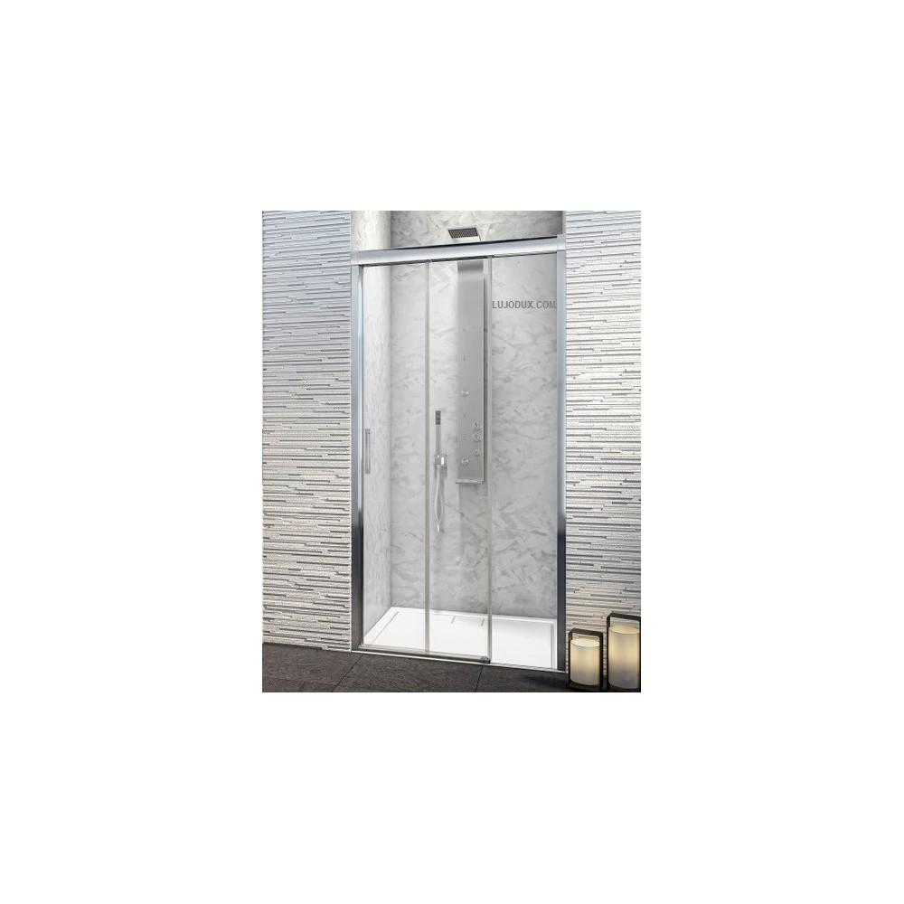 Mampara de ducha TFR 1 02 puertas correderas y 01 fijo  Transparente