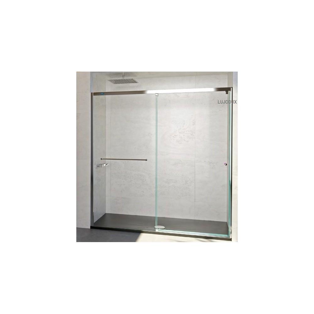 Mampara ducha Plus Evolution 1 fijo y 1 puerta corredera Transparente
