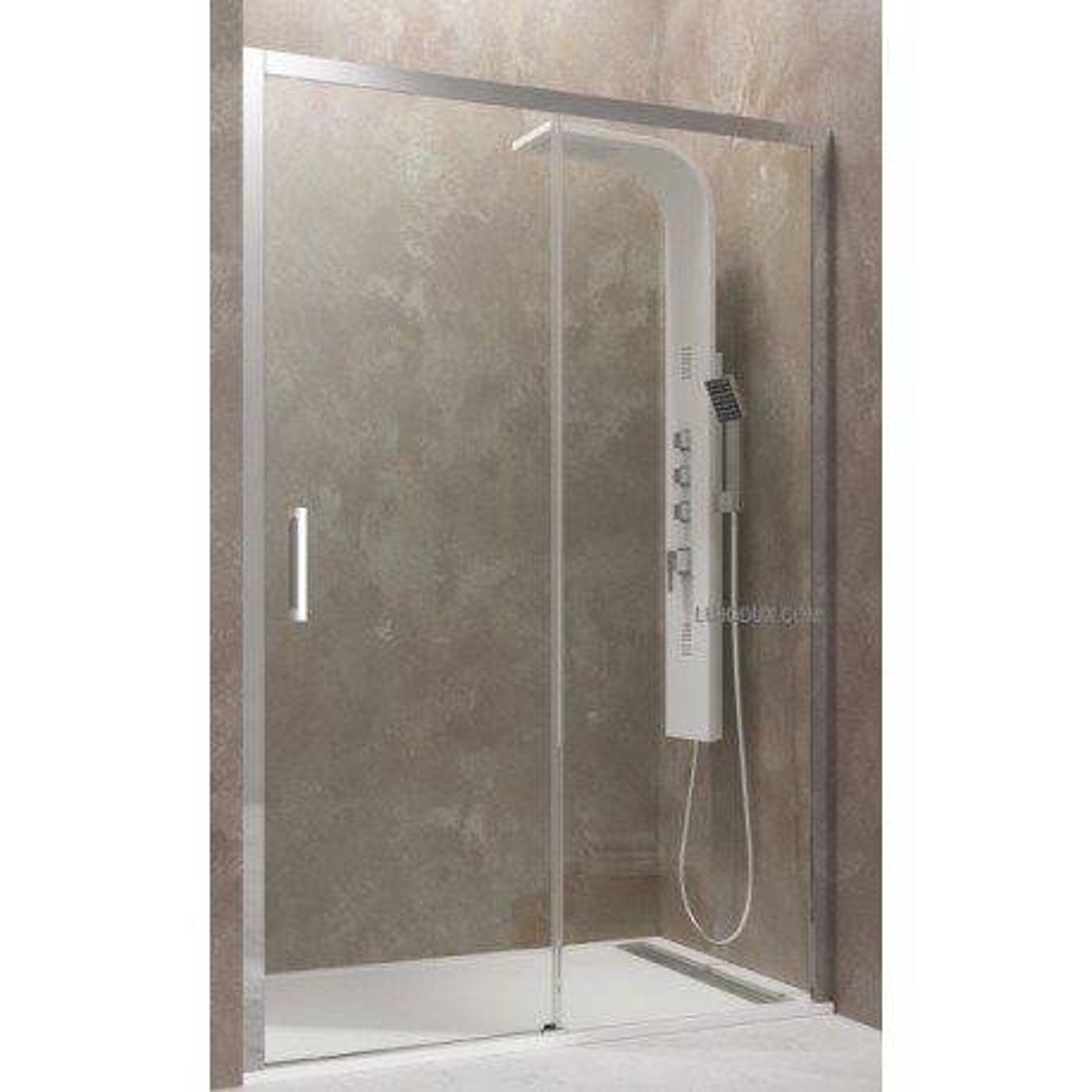Mampara de ducha Aktual 01 hoja fija y 01 puerta corredera Transparente SIN GUIAS INFERIORES