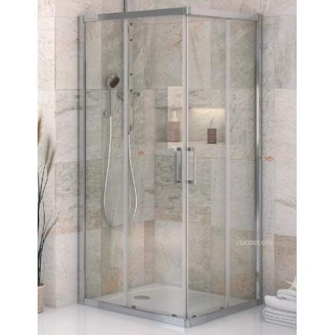 Mampara de ducha VD2 angular 2 fijos y 2 puertas correderas