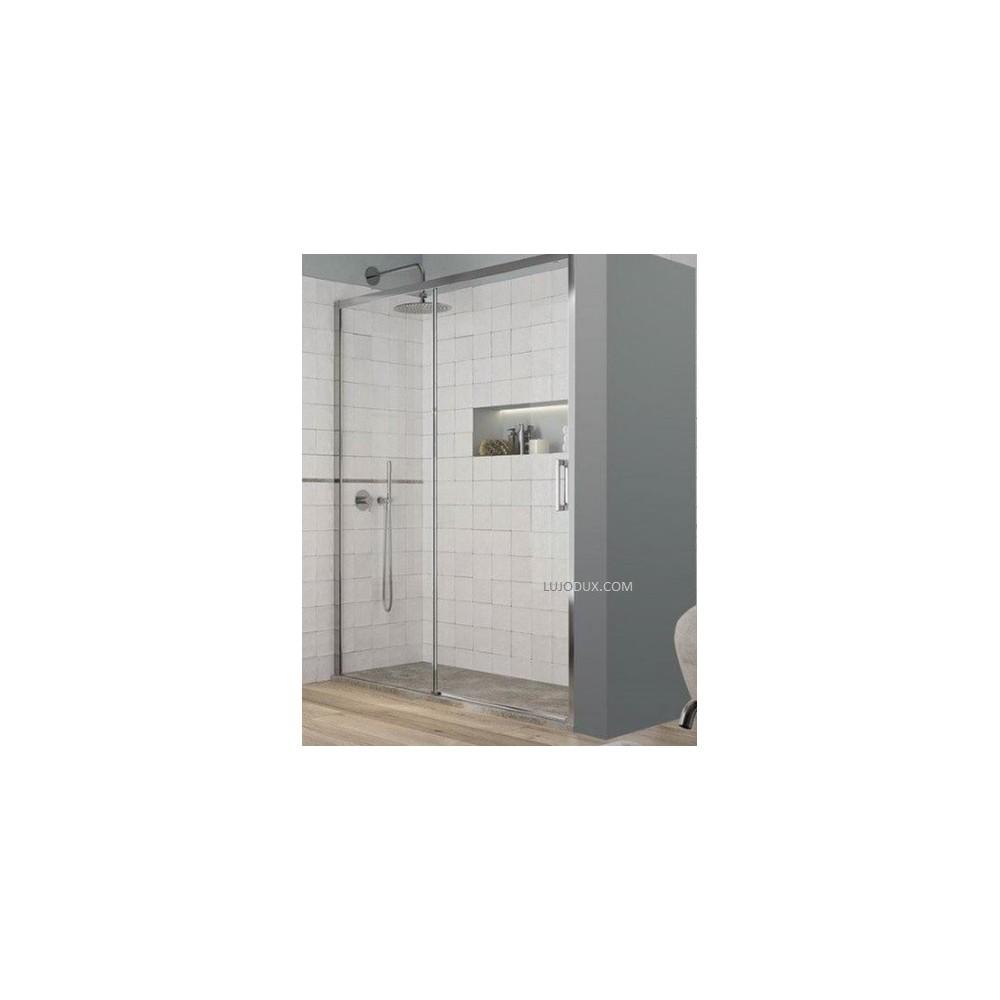 Mampara de ducha Yoko 1 fijo y 1 puerta corredera Transparente