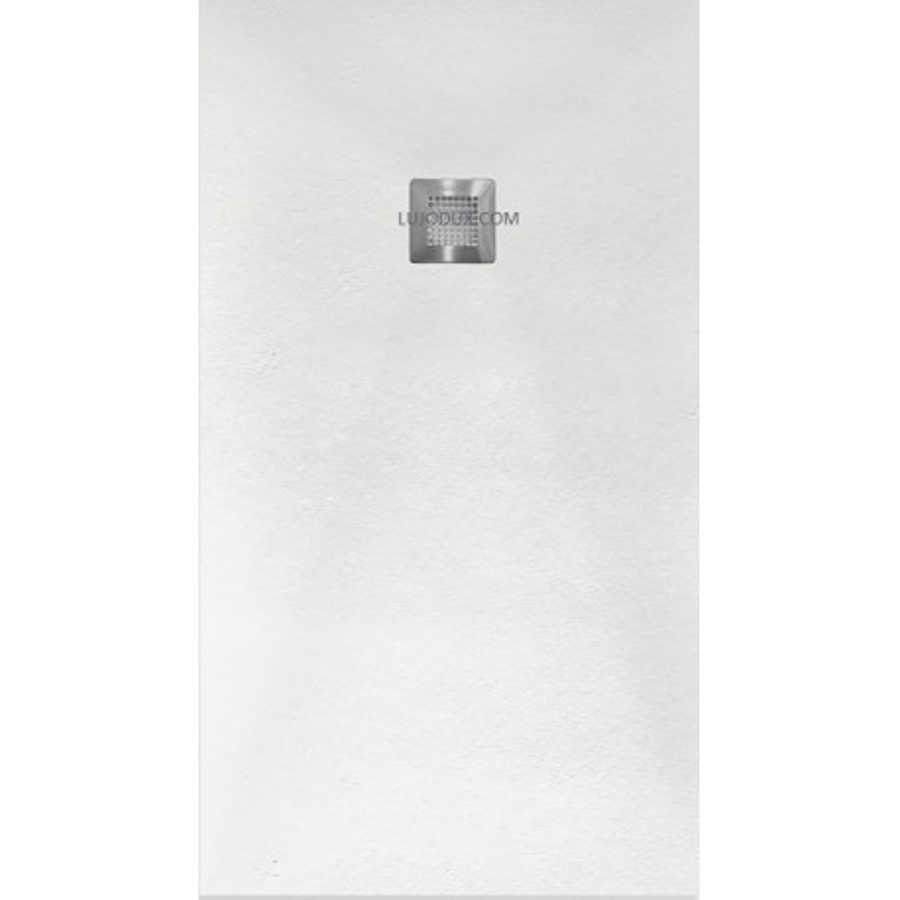 Plato de ducha Slate Color Blanco Rejilla Acero Inox