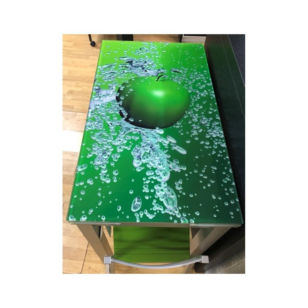 Mesa de Cocina con imprimación laser