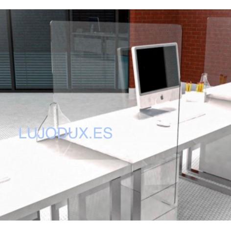 Mampara  separadora Delux para mesas de oficina