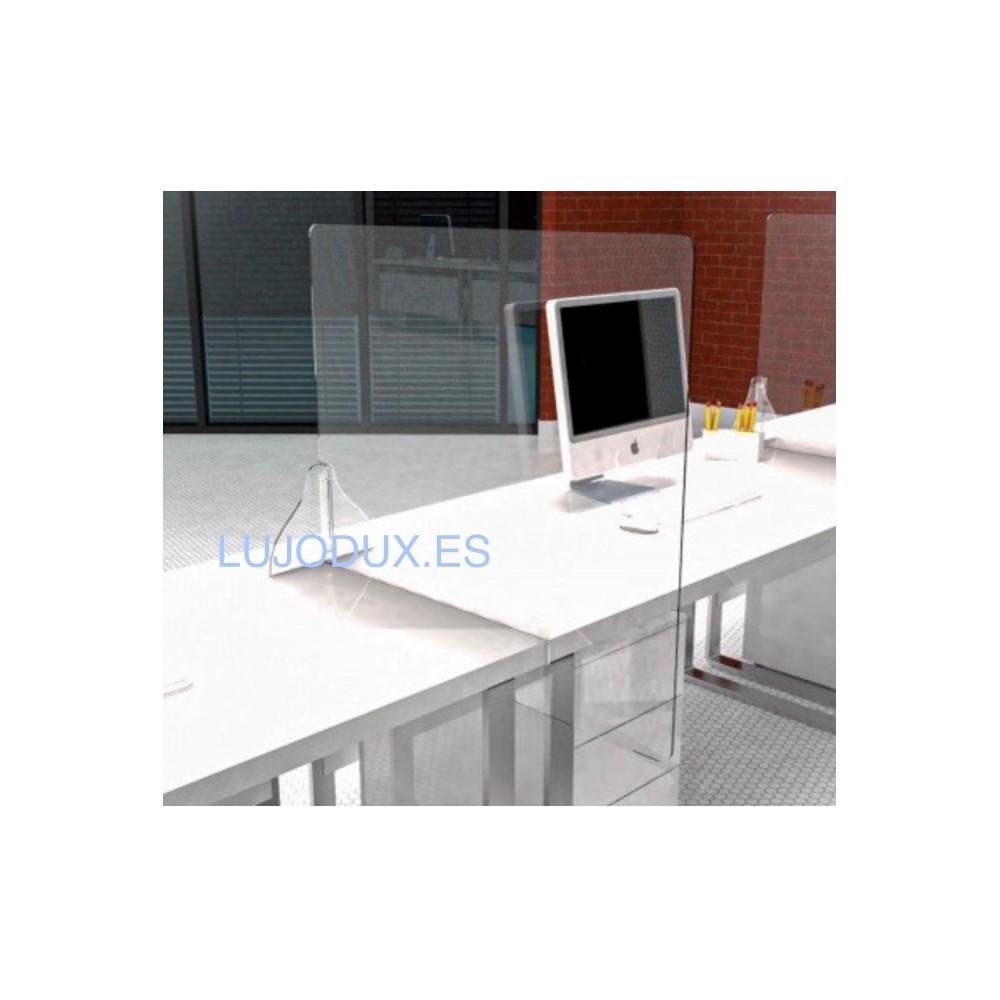 Pantalla separadora Delux para mesas de oficina
