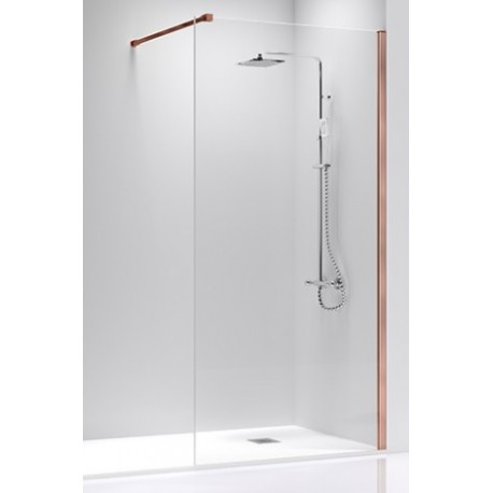 Mampara de ducha Fresh Oro Rosa Transparente