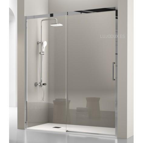 Mampara de ducha Luka Acero 1 Fijo y 1 Puerta corredera Transparente