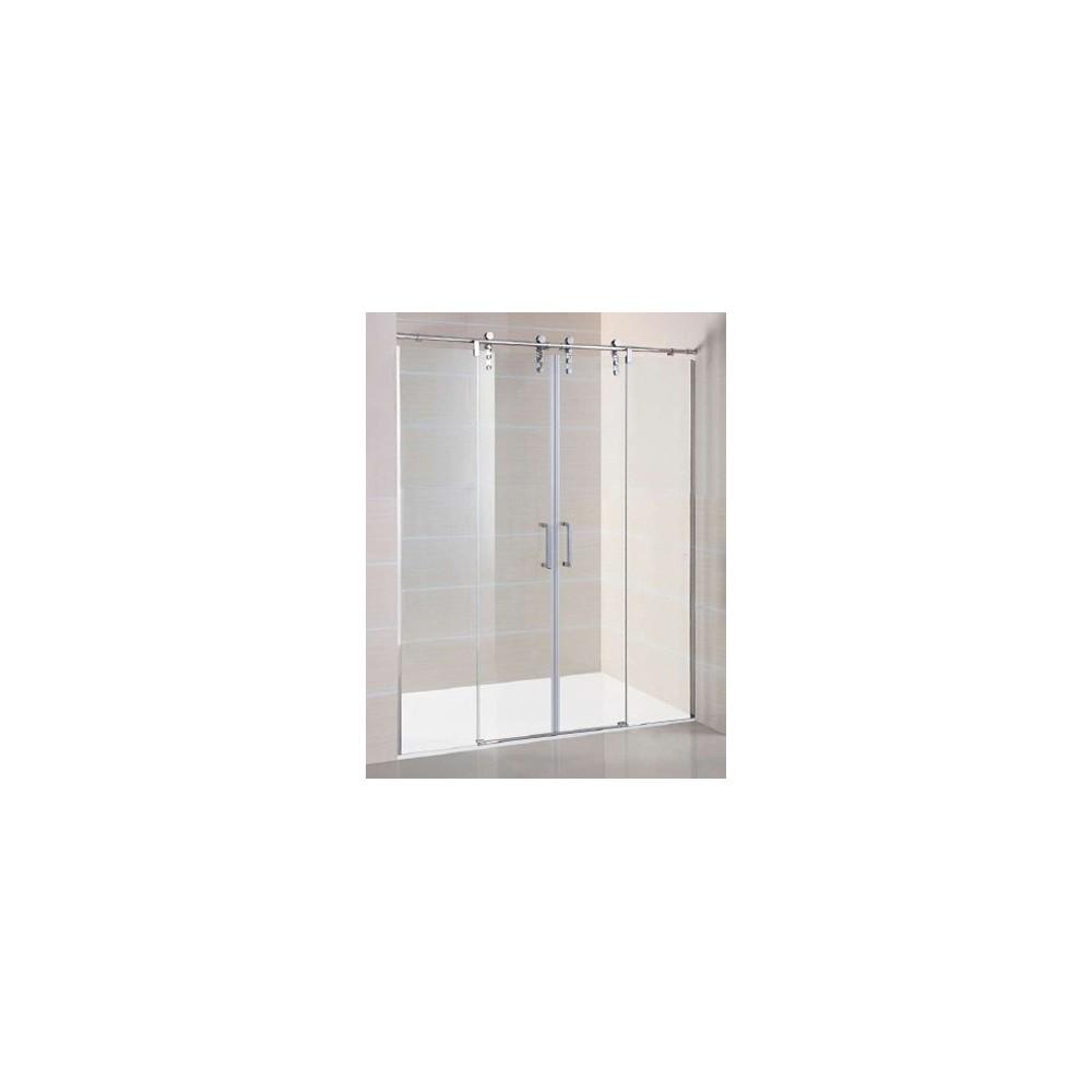 Mampara de ducha Moving Spazio 02 fijos y 02 hojas correderas