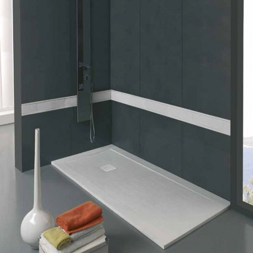 Plato de ducha Serie Gama Alta con zona de secado