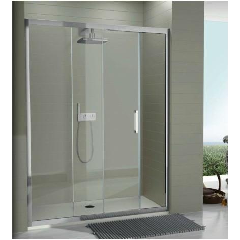 Mampara de ducha TR102 un fijo y una hoja corredera Transparente