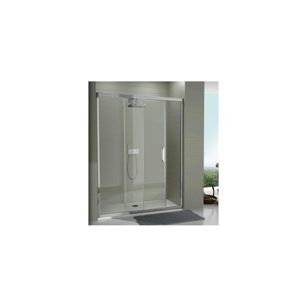 Mampara de ducha tr102 un fijo y una hoja corredera for Partes de una griferia de ducha