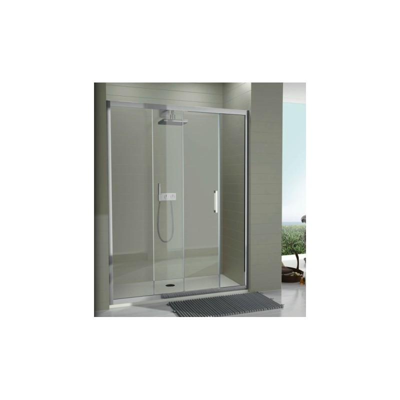 Mampara de ducha tr102 un fijo y una hoja corredera - Precio mampara ducha ...