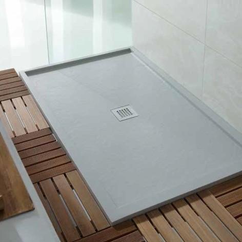 Plato de ducha Serie Box Rectangular dos enmarcados paralelos
