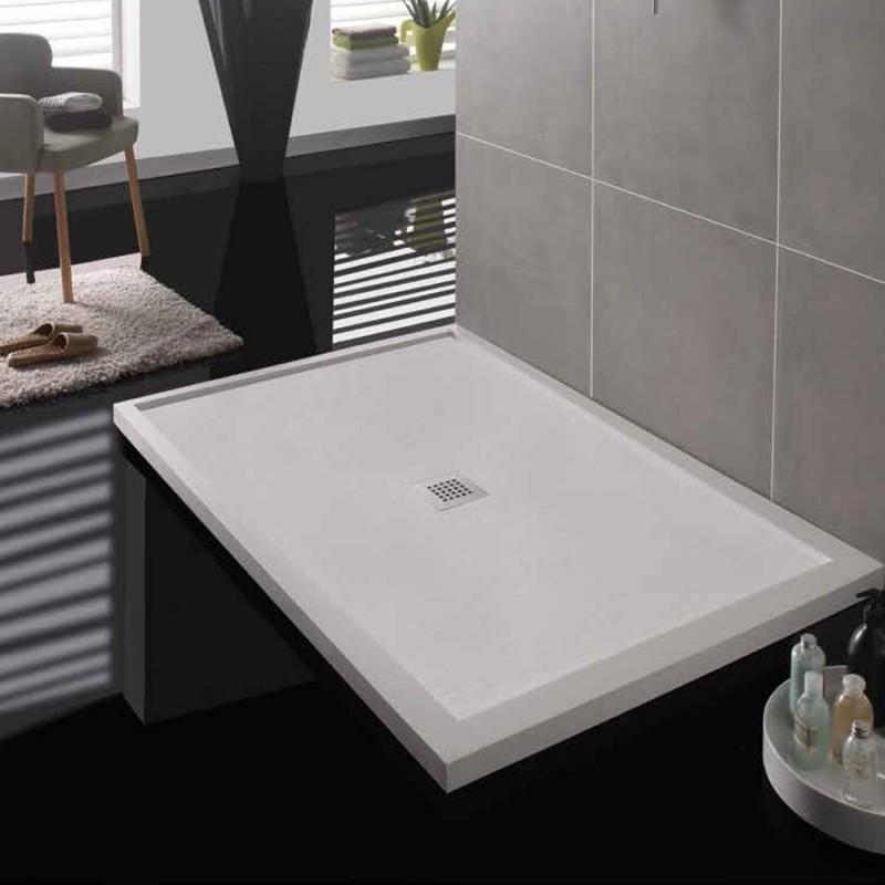 Plato de ducha serie box rectangular dos enmarcados paralelos for Box de ducha sodimac