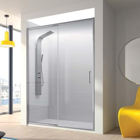 Mampara de ducha Bella 01 fijo y 01 puerta corredera