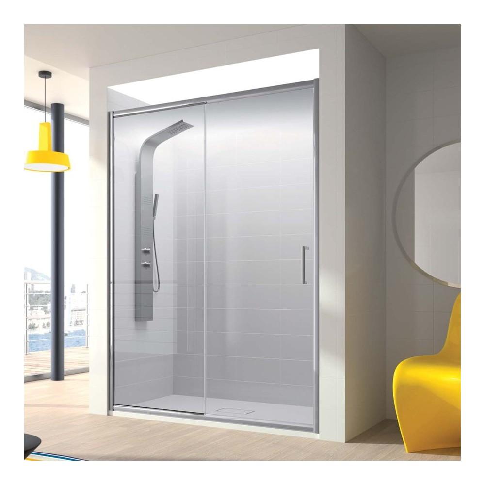 Mampara de ducha Bella 1 fijo y 1 puerta corredera  Transparente