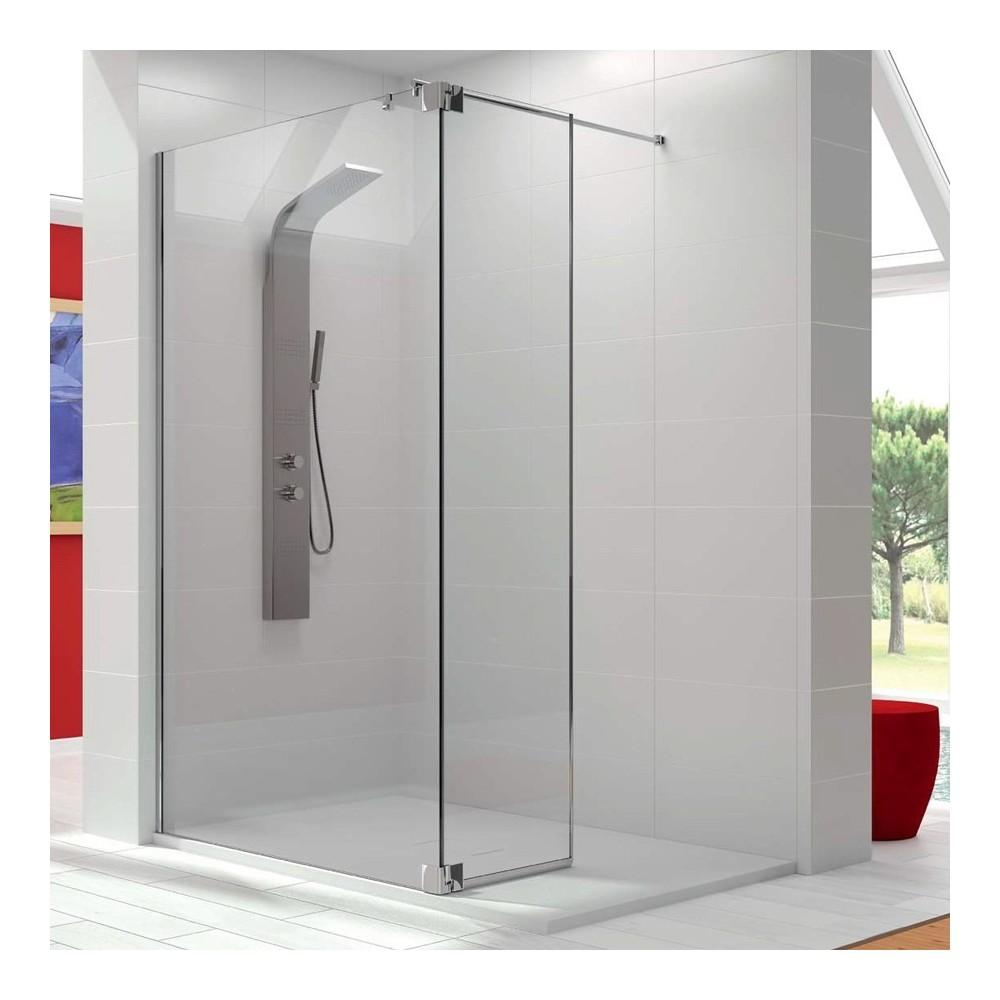 Mampara de ducha Panel fijo con una puerta abatible FR423 Transparente