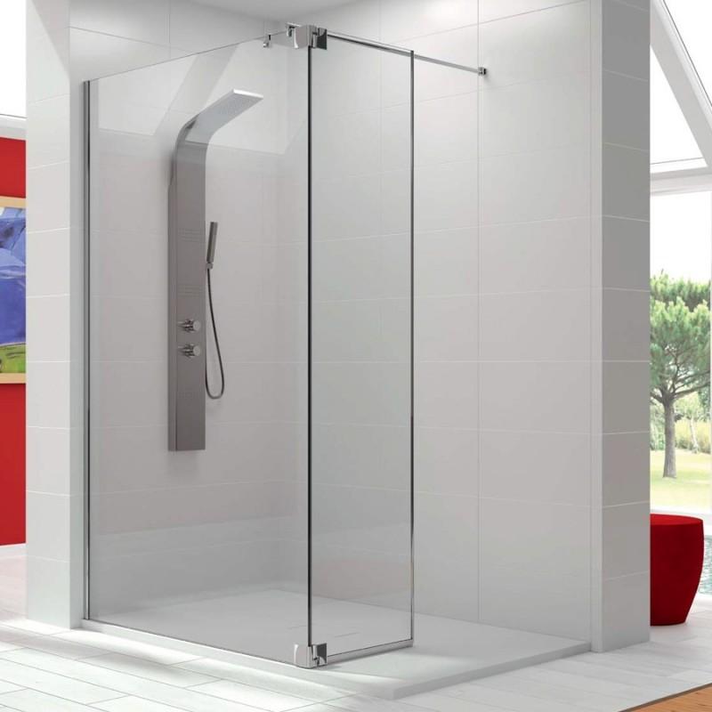 Mampara de ducha fija fresh fr423 con puerta abatible - Mamparas de ducha puertas abatibles ...