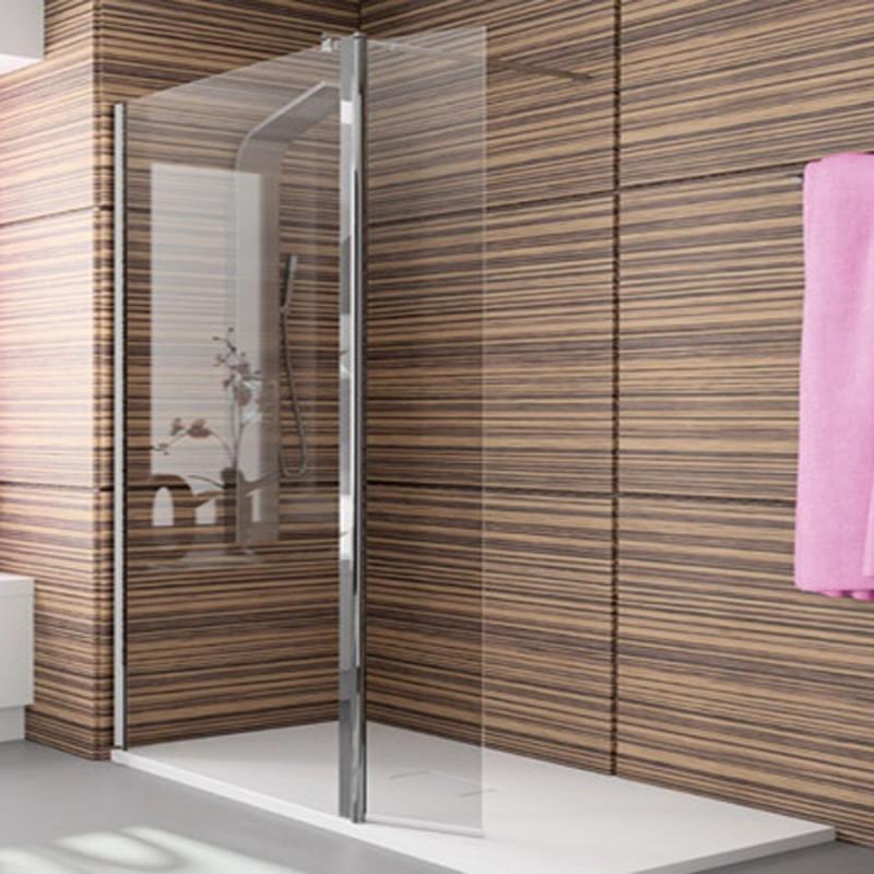 Mampara de ducha kassandra con fijo y puerta abatible tr 524 - Mamparas de ducha puertas abatibles ...