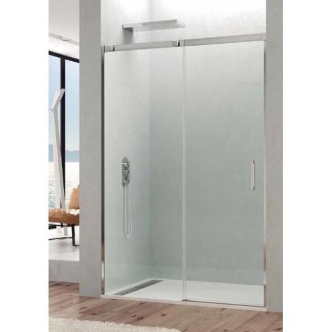 Mampara de ducha Temple 01 hoja fija y 01 hoja corredera  Transparente