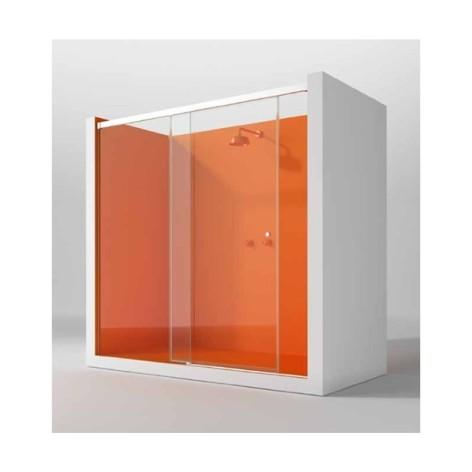 Mampara de ducha Kora Bahamas 01 fijo y 01 puerta corredera