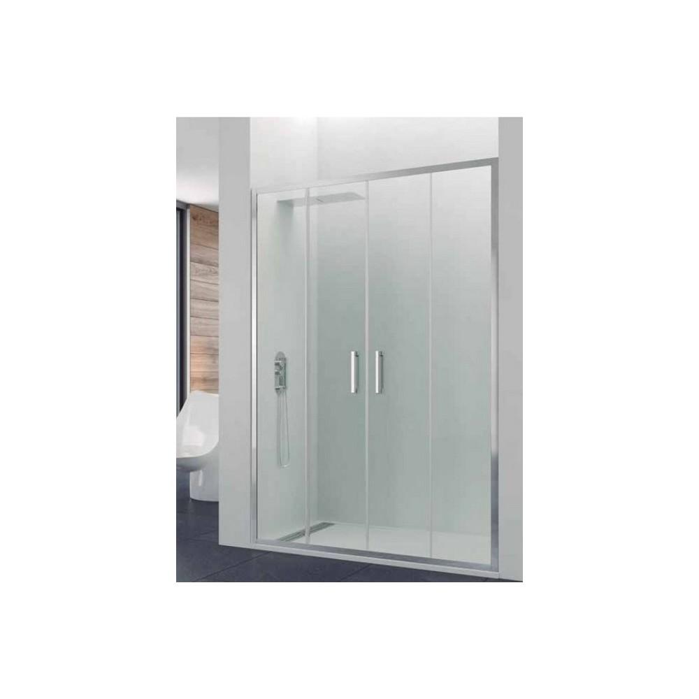 Mampara de ducha Prestige Titan Spazio 2 fijos y 2 puertas correderas Transparente
