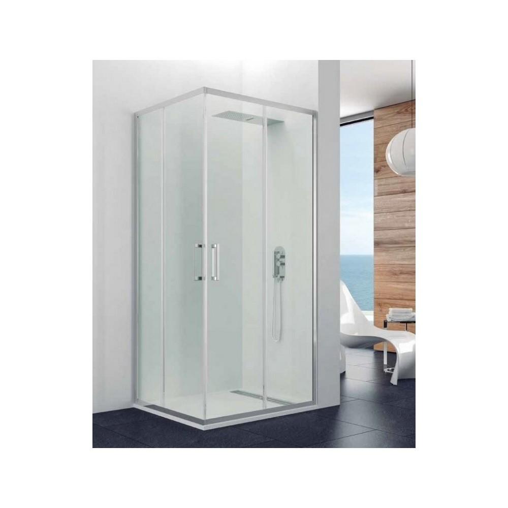 Mampara de ducha Prestige Titan Angular Transparente